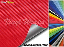 4D Red Carbon Fibre Vinyl