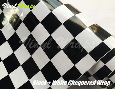 Chequered Black And White Vinyl Wrap