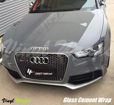 Gloss Cement Grey Vinyl Wrap
