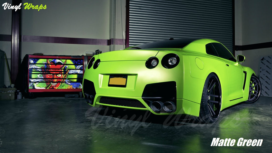 ***Clearance*** Matte Green Vinyl Wrap