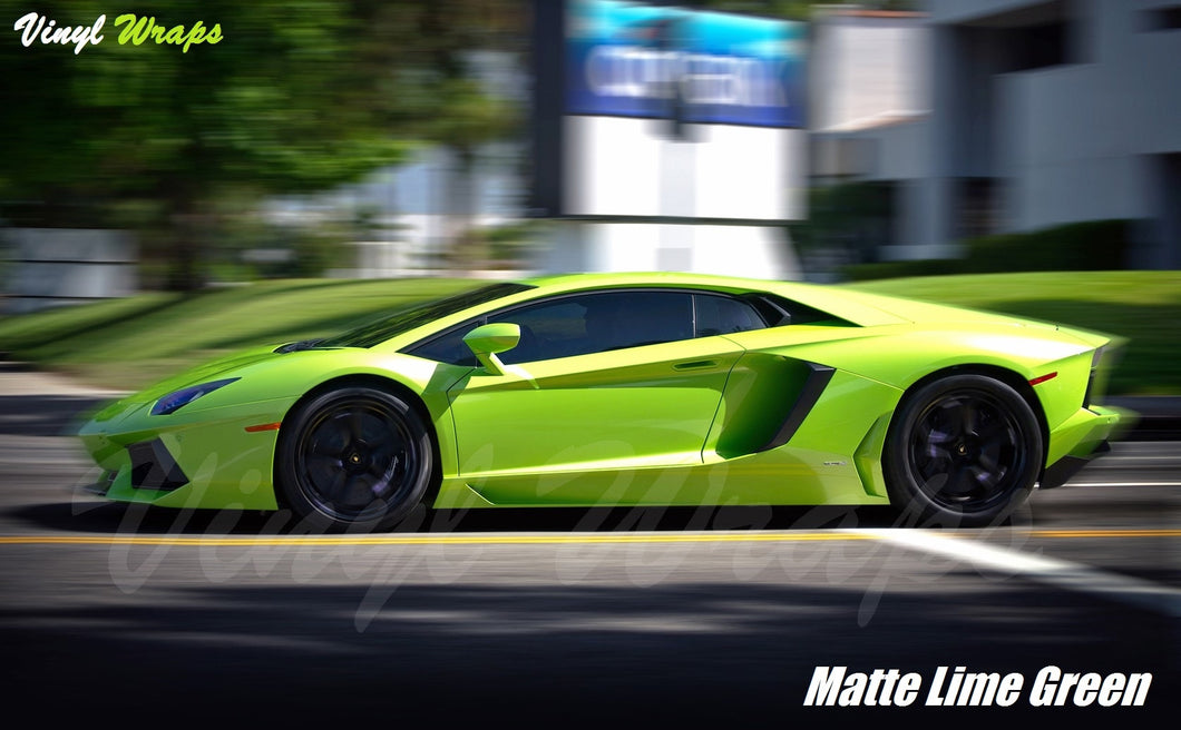 Matte Lime Green Vinyl Wrap