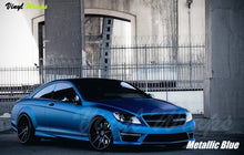 Metallic Blue Vinyl Wrap