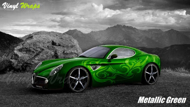 Metallic Green Vinyl Wrap
