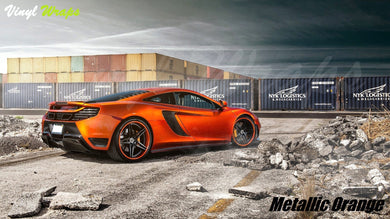 Metallic Orange Vinyl Wrap