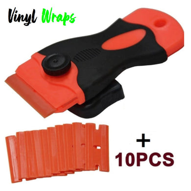 Safety Soft Grip Glue Scraper With 10 Spare Blades
