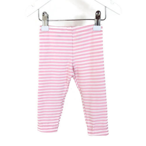Girls leggings with white and pink stripes - Size Newborn - 18 months
