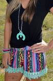 Shenandoah Serape Shorts - Pockets and Pearls®