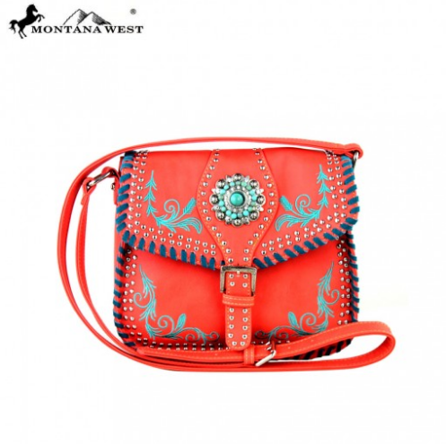 Montana West Concho Collection Messenger Handbag - Pockets and Pearls