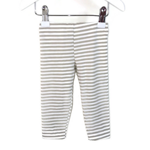 Girls and boys leggings with white and sand stripes - Size Newborn - 18 months