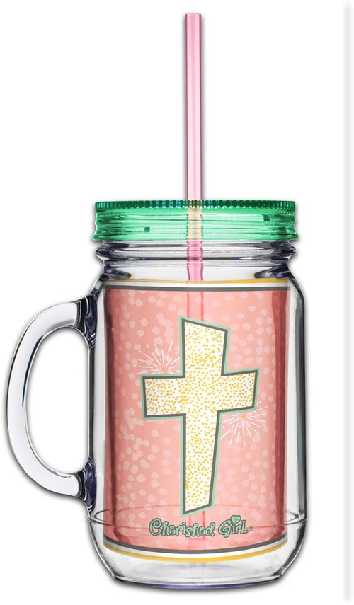 Faith As Small As A Mustard Seed Mason Jar Tumbler ™
