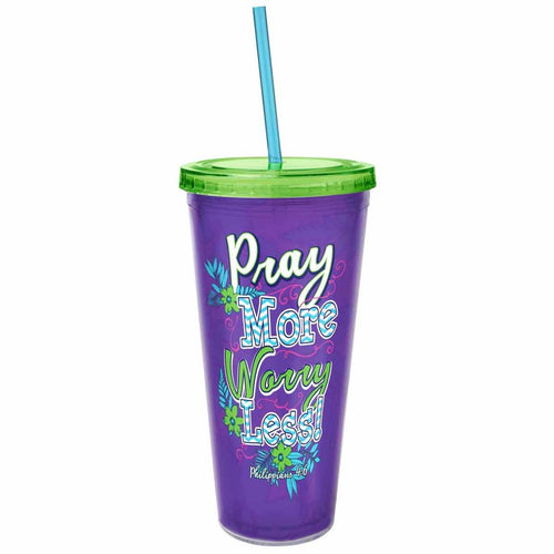 Pray More Acrylic Tumbler ™