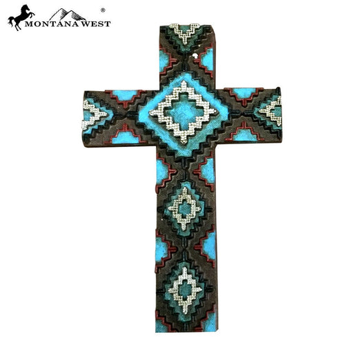 Montana West Aztec Resin Wall Cross - Pockets and Pearls®
