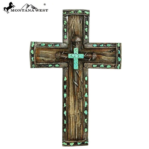 Montana West Nail Resin Texture Wall Cross - Pockets and Pearls®