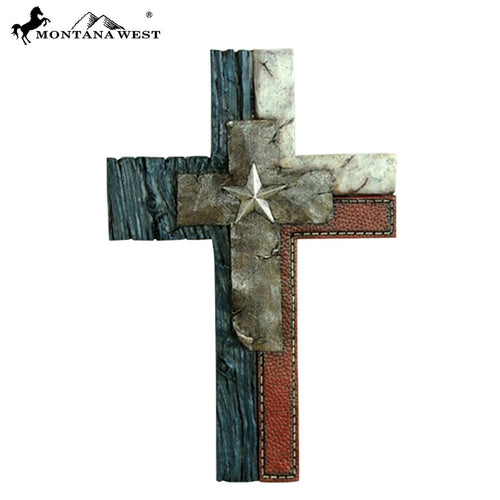 Montana West Texas Lone Star Wall Cross - Pockets and Pearls®