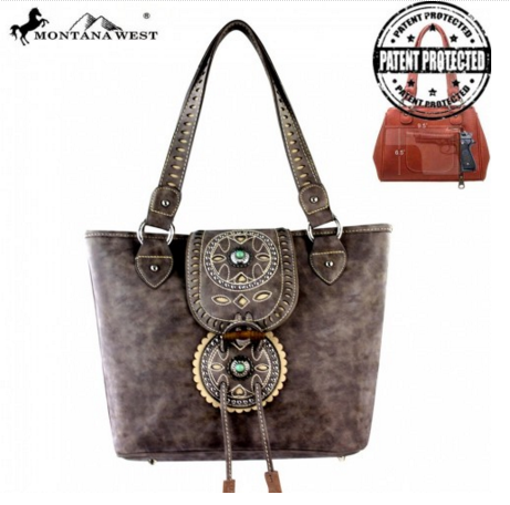 Montana West Concealed Handgun Collection Handbag - Pockets and Pearls