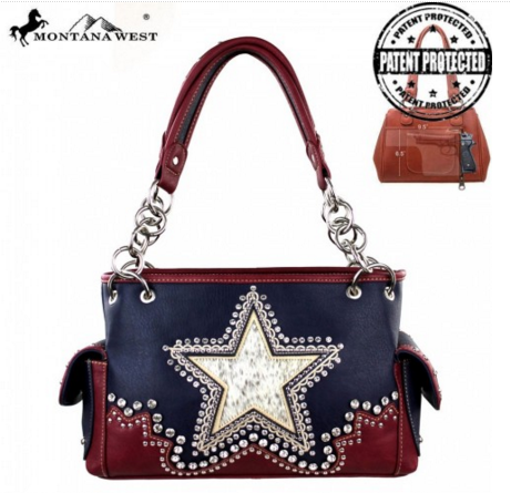 Montana West Texas Pride Collection Handbag - Pockets and Pearls