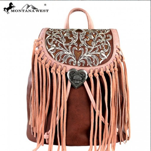 Montana West Fringe Backpack Collection Handbag - Pockets and Pearls