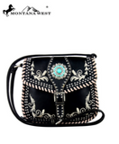MW Turquoise Concho Messenger Bag - Pockets and Pearls
