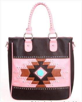MW Western Aztec Handbag - Pockets and Pearls