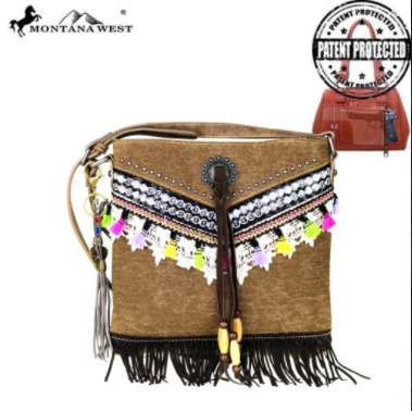 Montana West Fringe Collection Concealed Handgun Crossbody - Pockets and Pearls®