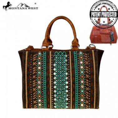 Montana West Tribal Collection Concealed Handgun Satchel - Pockets and Pearls®