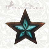 Montana West Turquoise Lone Star Wall Decor