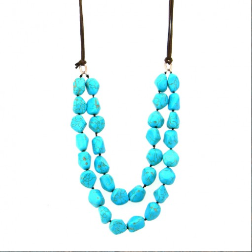 Montana West Double-Strand Turquoise Necklace
