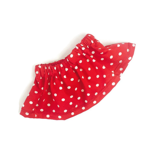 Girls skirt red with white dots - Size Newborn - 2 years