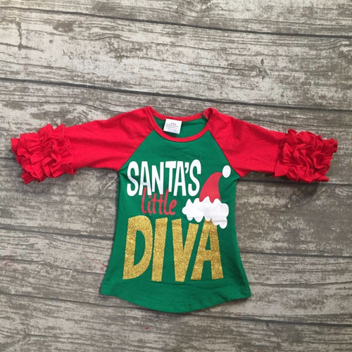 """Santa's Little Diva"" Mini Pearls Top"