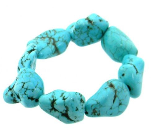 Turquoise Nugget Bracelet - Pockets and Pearls®