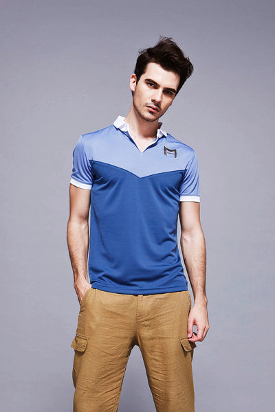 Feather Dry Polo - Purple/Blue