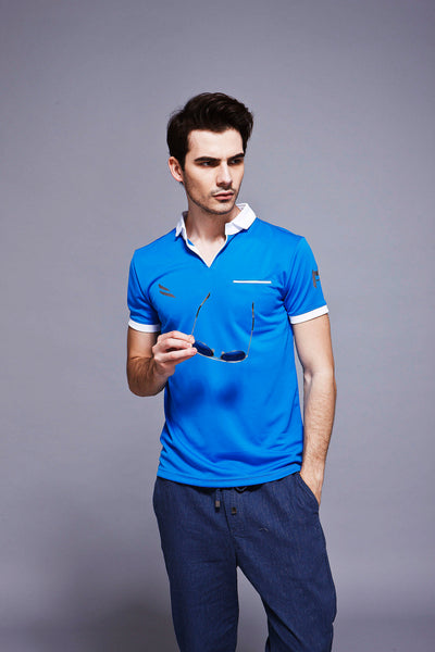 Feather Dry Polo - Blue