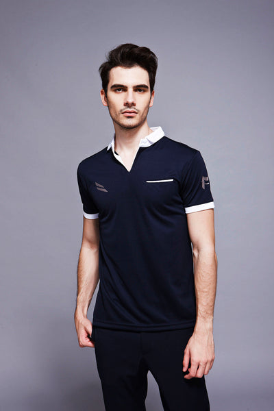 Feather Dry Polo - Black