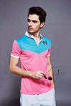 Feather Dry Polo - Green/Pink