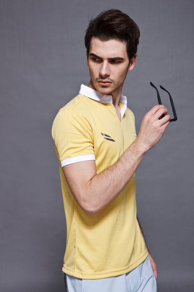 Feather Dry Polo - Yellow