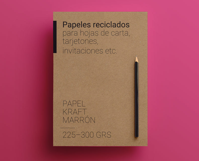 papel de cartas en kraft marrón