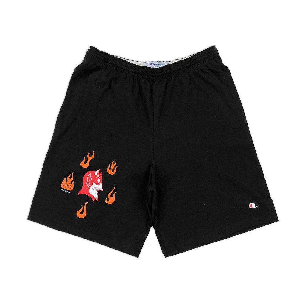 Cult Hell Bottoms Champion Shorts - Black Large