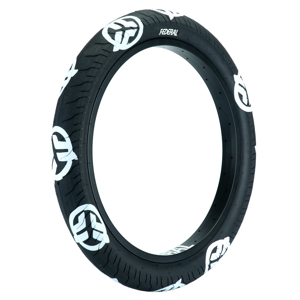 """Federal Command LP Tyre - Black With White Logos 2.40"""""""