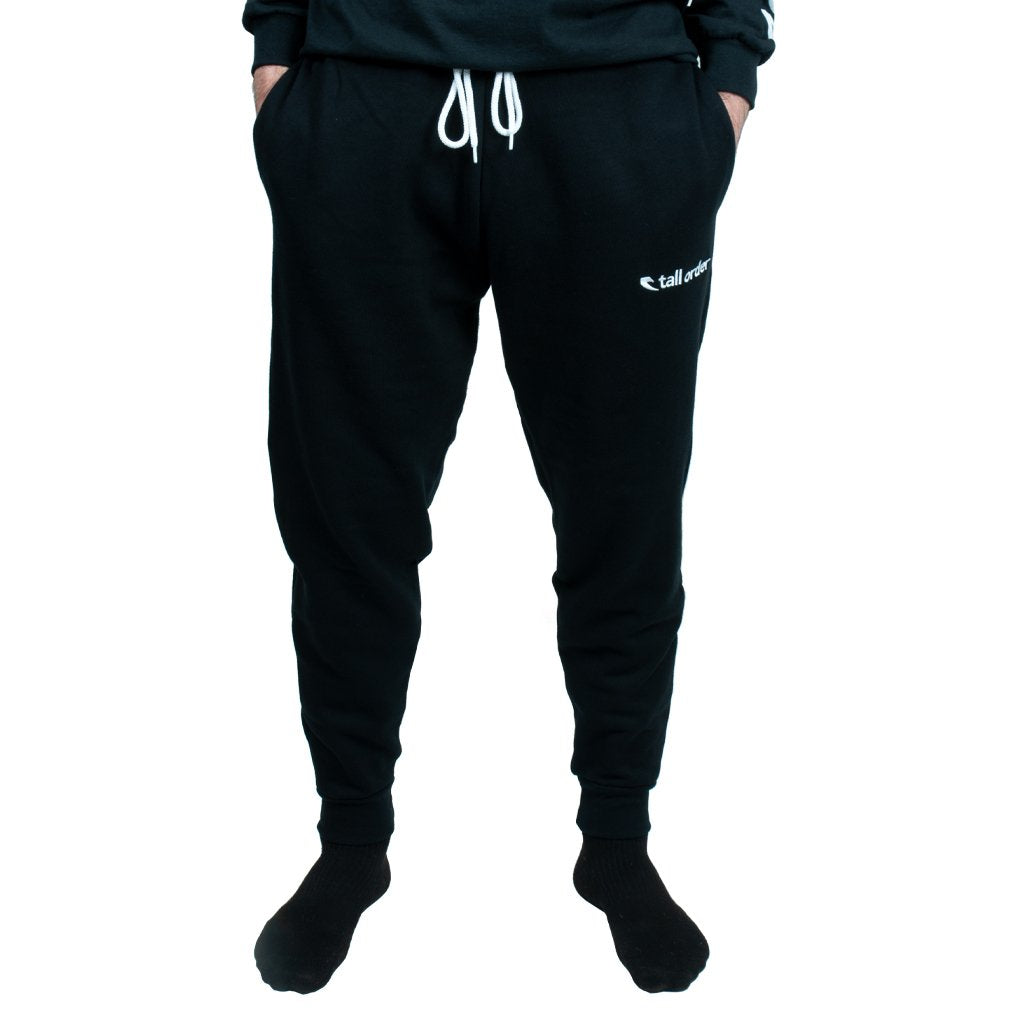 """Tall Order Embroidered Logo Joggers - Black Large 36-38"""""""