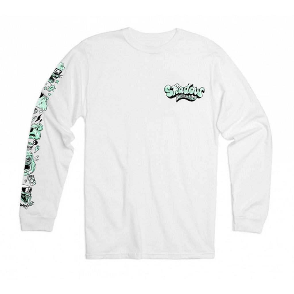 Shadow Shades L/S T-Shirt - White Medium