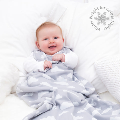 Merino Baby Sleep Bag - Winter Weight - Cloud Print