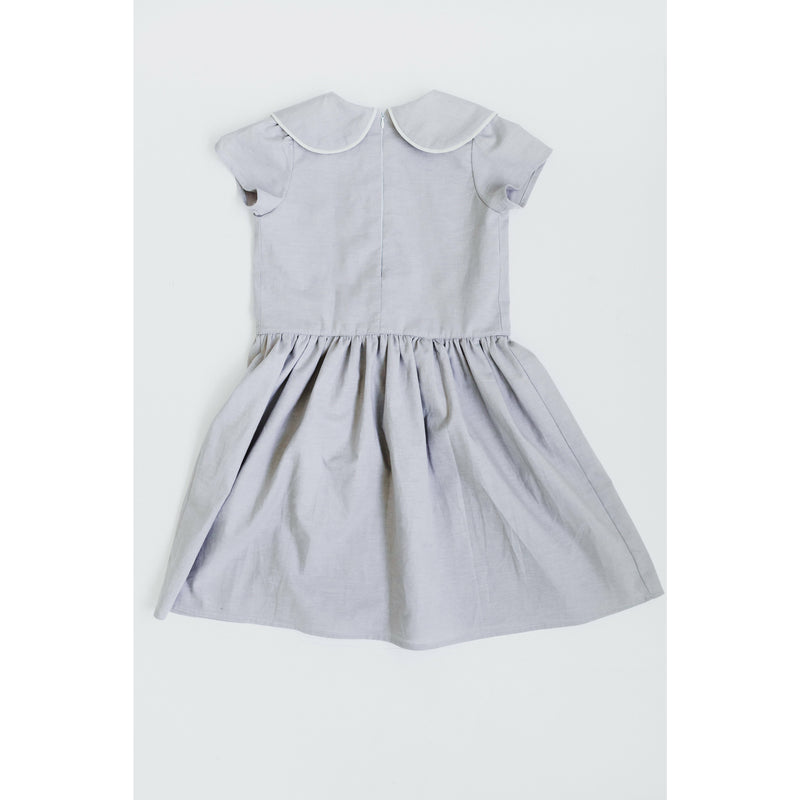 The Louise Dress in Lavender Grey by Dotti Shop