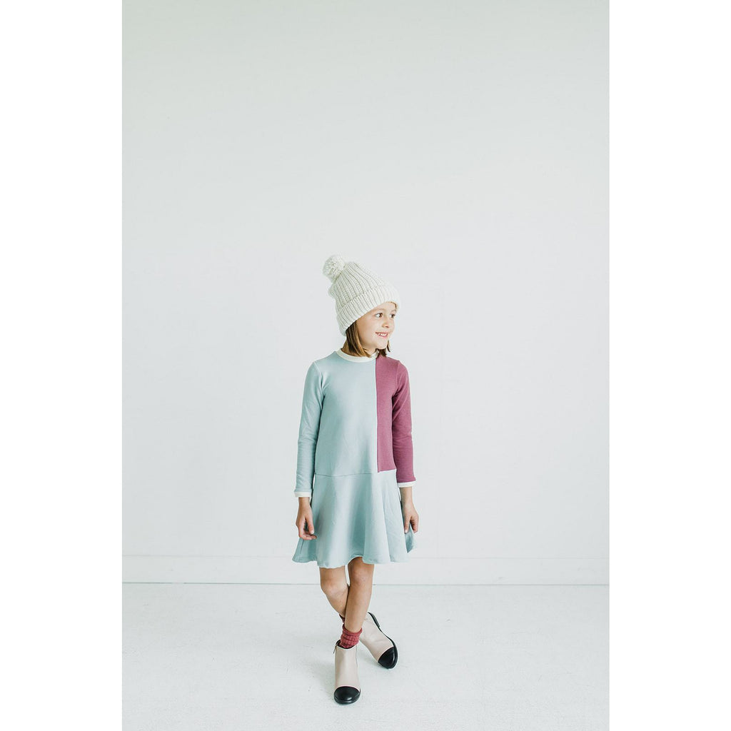 The Brooklyn Dress in Ice Blue/Rose