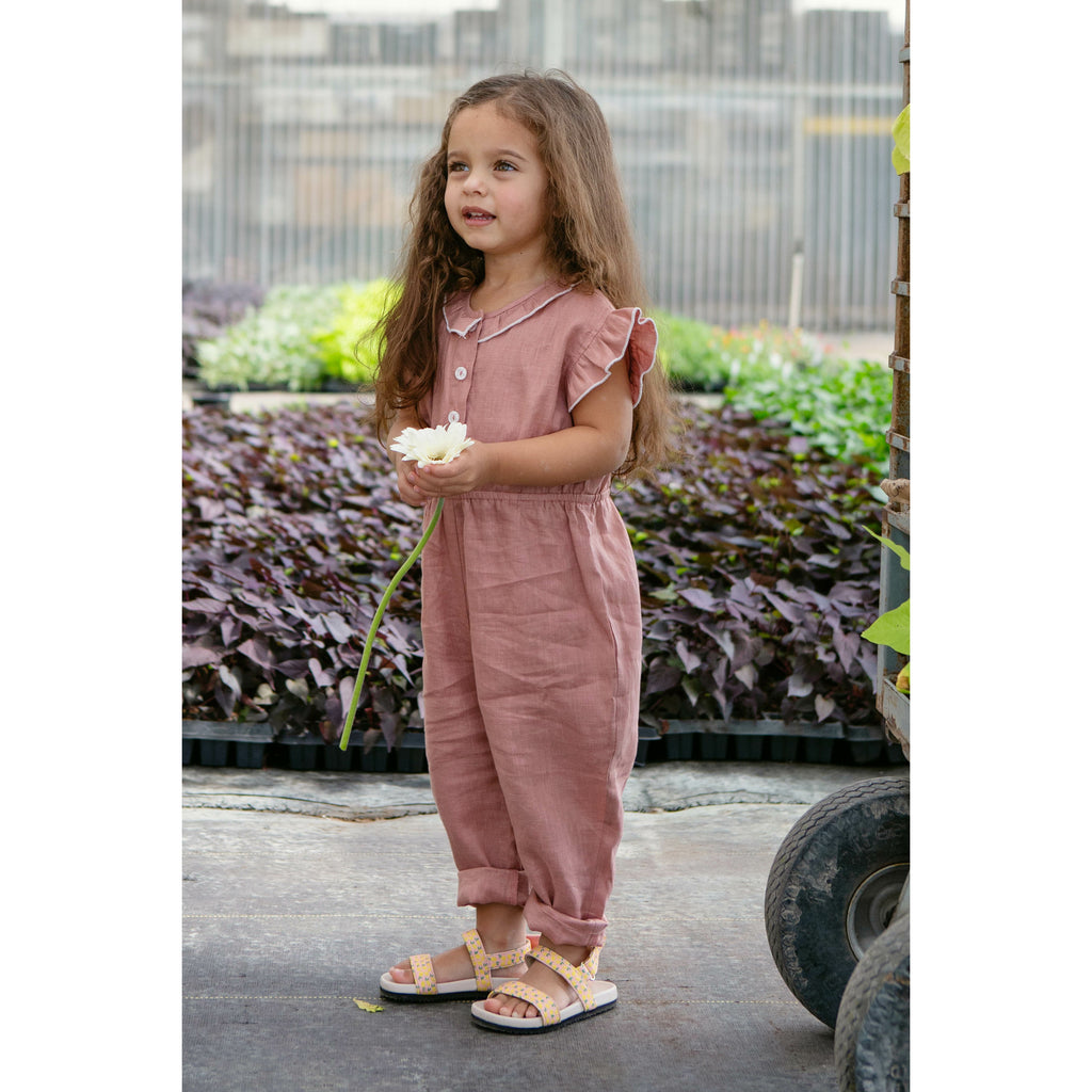 The Isla Jumpsuit in Flushed Linen
