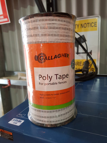 Gallagher poly tape 200m