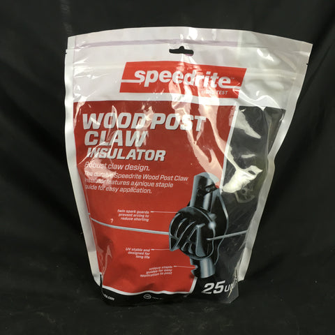 Wood Post Claw Insulator 25 pack