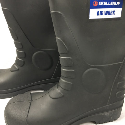 Gumboots, Boot, Waterproof, Black, Skellerup, Rubber
