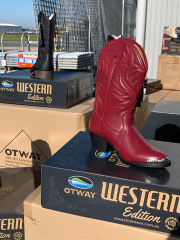 Western Style Kids Boots (winton red) Reduced Price!