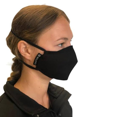 Face mask with Helix Filters. Made in NZ. Efficient, Portable, Reusable
