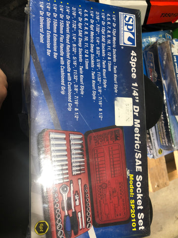 43pce Socket Set